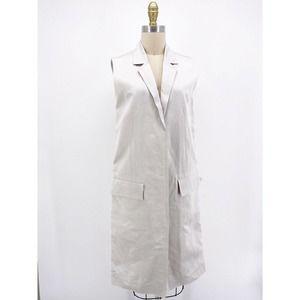 COS Sleeveless Linen Blend Blazer Jacket Midi